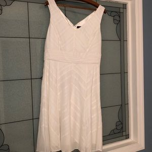 White House Black Market white sleeveless dress